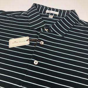 Peter Millar Short Sleeve Striped Golf Polo Shirt